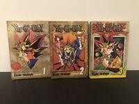 Lot Of 3 Yugioh Shonen Jump Manga Graphic Novel Books Volumes 1 2 3