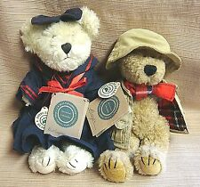 2 BOYDS BEARS - Buffington in Salior Dress & Thayer in Fishing Outfit - ALL TAGS