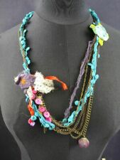 Taj Wood & Scherer Halskette Romeo & Juliet kurze Variante Kette blau  [07-143