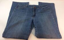Bandolino Arianna Women's Medium Wash Jeans Size 14 LongBuckle Back Flap Pocket