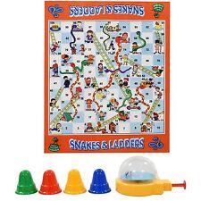 Niños GIGANTE serpientes & Escaleras implementar Alfombra de juego de Mesa Familiar Tradicional Nuevo