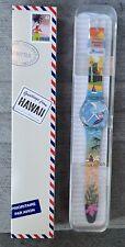 RARE Swatch Hawaii Destination Watch Pau Hana Time GZ339