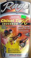 Rage Chizel Tip Crossbow 100 grain 3 blade Broadhead-Official Liscensed Dealer