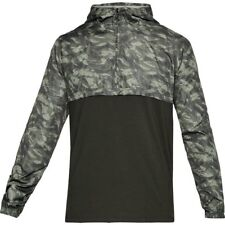 NWT Mens Under Armour UA Wind Anorak Jacket Pullover Green/Camo 3XL MSRP $60