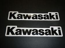 Two Kawasaki Universal Tank Swingarm Fender Stickers Decals ATV KFX450 KFX 450