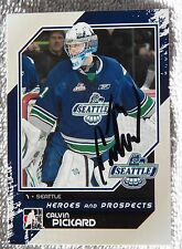 Colorado Avalanche Calvin Pickard Signed 10/11 ITG H&P Seattle Thunderbirds Card