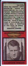1936 Diamond Football Matchcover #18 Bronko Nagurski-Chicago Bears-Red Border
