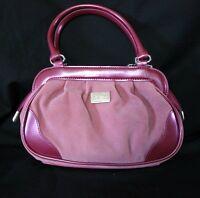 Beijo Just Hold Me Mulberry Razzbery Purse Handbag PVC Trim Two-Tone Pink Spring
