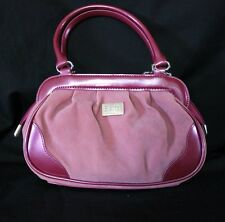 Beijo Just Hold Me Mulberry Razzbery Purse Handbag PVC Trim Two-Tone Pink Spring