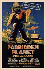 """VINTAGE - FORBIDDEN PLANET MOVIE POSTER 12"""" X 18"""""""