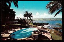 c1960 Nani Li'i Naniloa Hotel swimming pool Hilo Bay Big Island Hawaii postcard