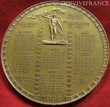 MED2808 - MEDAILLE CALENDRIER 1966  - FRENCH MEDAL