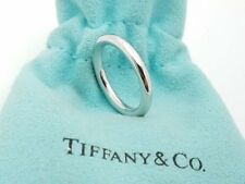 Tiffany & Co Platinum 950 3 mm Wedding Band Ring Size 4.5 Pouch