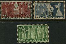 SWITZERLAND 1945 Set to 10Fr 'GREEN' SG388a-390a VFU Cv £110 [A7532]*