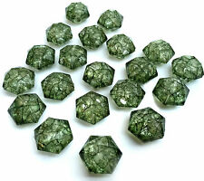 20 X Crackle Glass Effect Green Acrylic Beads Size 14 x 16 mm