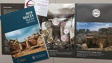 2018 MALTA 9 monete 5,88 EURO Malte 8 monete + 2 € lettera F Mnajdra Menaidra