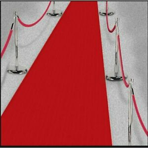 RED Carpet Hollywood Runner VIP Party Decoration Wedding Thin Poly Fabric 15ft
