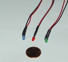 Set Of 3 Led 3mm Blinking Micro Lights Dc 9 12vdc Color Bluered And Green