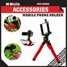 X-BULL Mini Flexible Fluid Head Tripod Bracket Stand Smart Phone iPhone Red