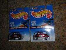 2 LOT Hot Wheels BAJA BUG Dealers Choice Small & Reg 3/4 1997 567 VW Volkswagen
