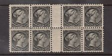 Canada #34iii VF/NH Gutter Block Of Eight With Perfect Gum