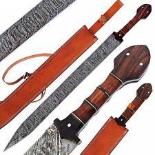 Damascus Sword,Custom Handmade ROMAN GLADIUS SWORD,ROSE WOOD HANDLE