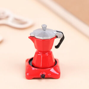 Dollhouse Miniature Metal Coffeemaker Simulation Kitchen Furniture Kitchenh3