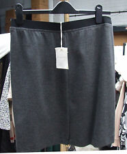 120% BNWT €99.00 sz 48/UK 16 Gorgeous Grey Classy Pull On Knee Length Chic Skirt
