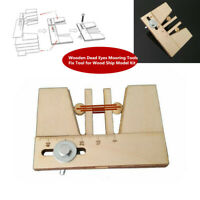 Wooden Dead Eyes Mooring Tools Auxiliary Fix Tool for Wood Ship Model Accessory