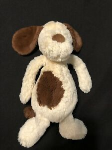 "Jellycat Bashful Spaniel Dog Soft Toy Plush Puppy Brown Beige 6""-14"" Retired"