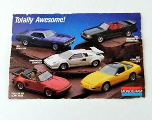 Monogram Free Catalog Offer Insert Retro Old Vintage Car Model Kit Advertisement