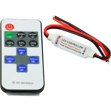 Mini RF Wireless Controller + Dimmer for Single Color LED Strip Light DC 12V 6A