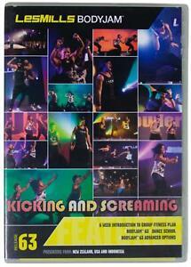 LES MILLS BODYJAM 63 Kicking & Screaming DVD + CD SET Core Fitness Workout EUC