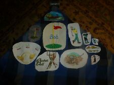 Vintage Homemade Golf Sports Embroidery Remnant Patch Lot Of 11 Unique