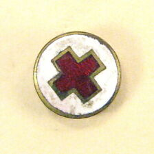 Vintage Red Cross Pin