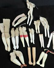 Lot Vintage Antique Wood Compo Arms / Hands + Legs / Feet