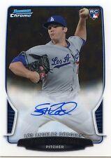 2013 Bowman Paco Rodriguez On Card Autograph Chrome Rookie Card Dodgers Gators