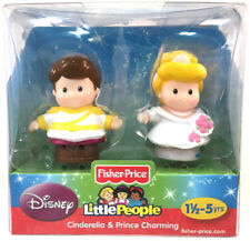 Fisher-Price Disney Little People Cinderella & Prince Charming New White Wedding