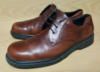 Ecco Mens Brown Leather Oxfords Casual Dress Shoes 13 - 13.5 / 47