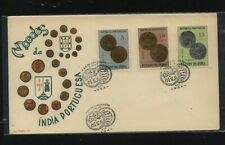 Portugal  India   coin stamps on cachet cover       HC0407