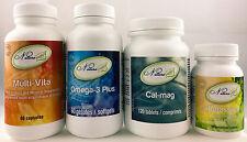 Natura (Ideal Protein) Super Pack Cal-mag/Multi-Vita/Potassium/Omega3 Plus