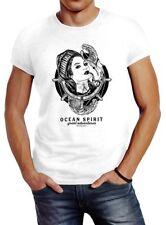 Herren T-Shirt Woman Sailor Captain Pin-Up Kapitän Slim Fit Neverless®