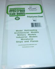 "Evergreen Styrene Sheet Shape Plastic Metal Siding .125 Spacing 12"" x 6"" White"