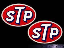 STP - Set of 2 Original Vintage 60's 70's Racing Decals/Stickers 4.75 Inch Size