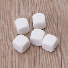 5pcs 20mm White Blank Acrylic Dice Kid DIY Write Painting Family Graffiti Games