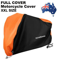 XXL Motorcycle Cover Waterproof 190T Wind Protector Heavy Duty Outdoor Dust AU