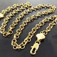 Necklace Chain Real 18k Yellow G/F Gold Solid Belcher Link Ladies Design 20""