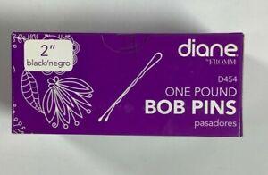 "Diane Bobby Pins, 2"" Black 1 lb One Pound Box (Approximately 742) NEW! NIB"