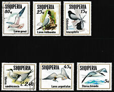 1973 Albania Fauna Birds (Scott 1497-502) Series Stamps set of 6 - Used/Unhinged