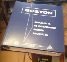 BOSTON Industrial RUBBER PRODUCTS 1970s Era Catalogs in Looseleaf RARE